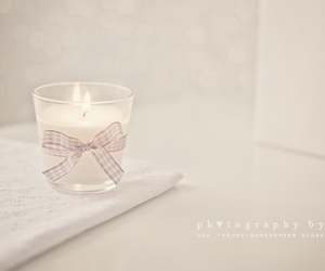 bokeh, bow, and candle image
