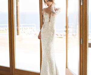 bride, wedding dress, and julie vino image