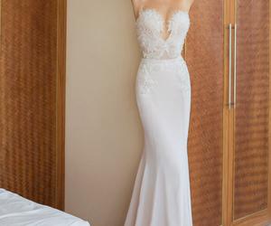 wedding dress, bride, and julie vino image