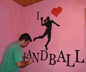 handball, sport, and fal image