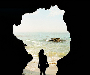 cave, girl, and photography image