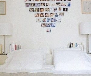 heart, photo, and bedroom image