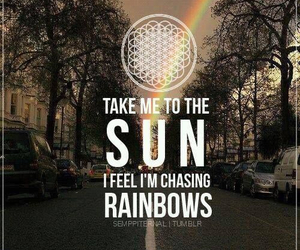 bmth, bring me the horizon, and chasing rainbows image
