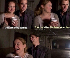 divergent, four, and theo image