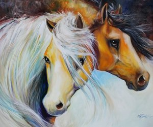 awesome, drawing, and horses image