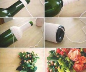 diy, flowers, and bottle image
