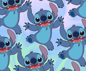 blue, background, and stitch image