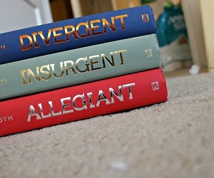 divergent, book, and insurgent image