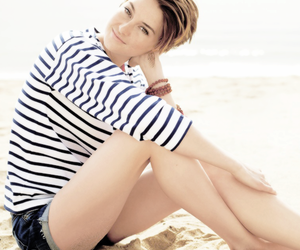 beauty, hair, and sand image