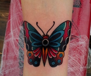 tattoo and old school butterfly image