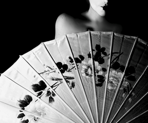 girl, japanese, and umbrella image