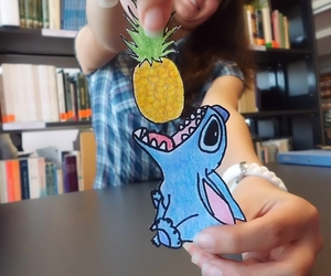 stitch, drawing, and pineapple image