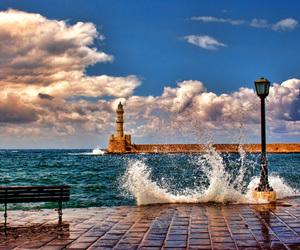 sea, Greece, and crete image