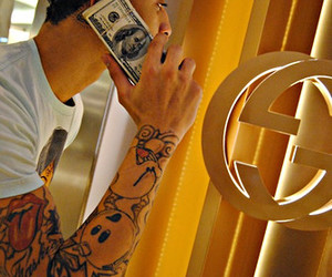 money, swag, and tattoo image
