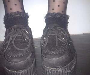legs, lolita, and pale goth image