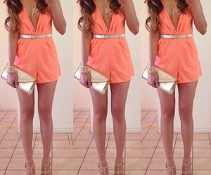 fashion, orange, and pretty image