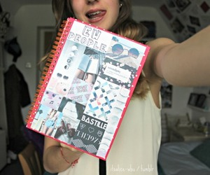girl, notebook, and quality image
