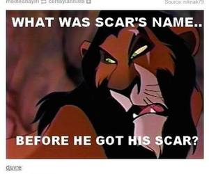 scar, funny, and disney image