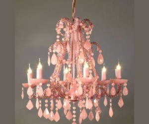chandelier and pink image