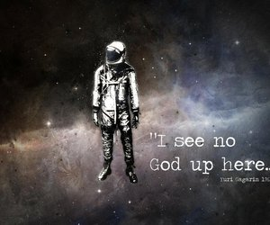 god, space, and quote image