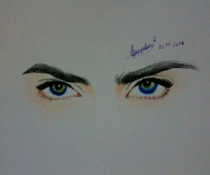 art, eyes, and realistic image