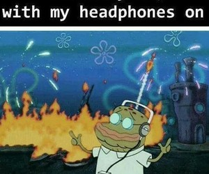 funny, music, and headphones image