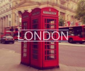 london, city, and red image