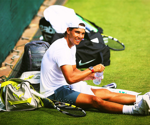 grass, tennis, and nadal image