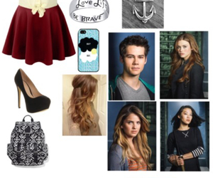 school, teen wolf, and cute outfit image