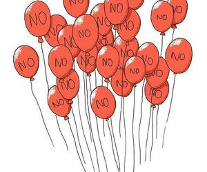 no, balloons, and red image