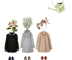 clothes, coats, and flowers image