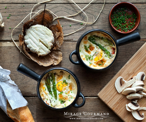 asparagus, food, and cocotte image