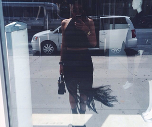 crop top and all black image