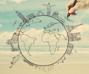 world, travel, and paris image