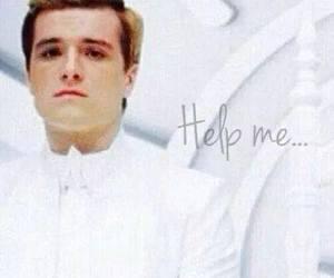 help, peeta, and sad image