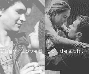 divergent, the fault in our stars, and love image