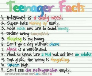 teenager, facts, and true image