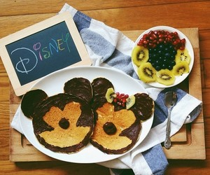breakfast, mickey, and chocolate image