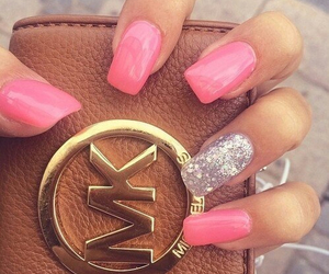 nails, pink, and mk image