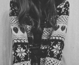 b&w, black and white, and pullover image