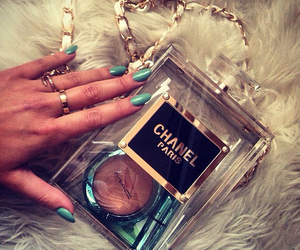 chanel, nails, and luxury image