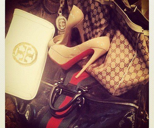 gucci, shoes, and louboutin image