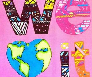 we heart it, world, and heart image