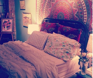 hipster, bed, and room image