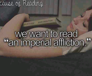 the fault on our stars and because of reading image