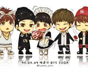 bts, suga, and suga image