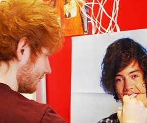 ed sheeran, one direction, and Harry Styles image