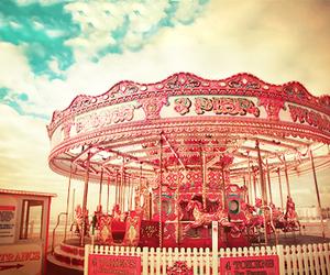 carousel, fun, and pink image