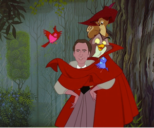 nicolas cage, aurora, and disney image