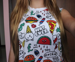 shirt and pizza image